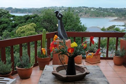 Waiheke Fiesta Mexicana - Villa: Sea view out over Oneroa