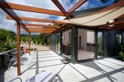 Waiheke Ridge Studio: Courtyard