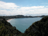 Waiheke Bella Vista: View  of Onetangi Beach