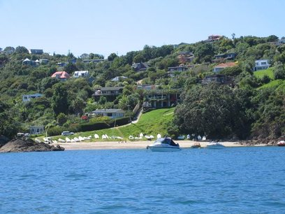 Waiheke Golden Sands: House from the sea 1