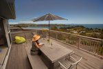 Waiheke Bayview Retreat: Deck of Oneroa holiday house Waiheke Island