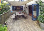 Waiheke Waiheke Escape: Lower deck with shade sail