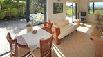 Waiheke Island Dream Cottage: lounge out to courtyard